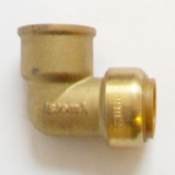 Brass Push Fit 22mm Elbow with 3/4 inch Female Thread - 27142200